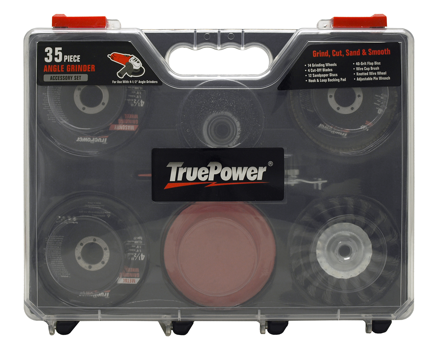 35 - pc. Angle Grinder Accessory Set - True Power