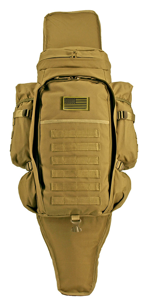 East West 9.11 Tactical Full Gear Rifle Combo Backpack - Coyote