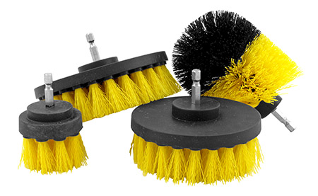 """Power Drill and Tool Brush Set with 1/4"""" Attachment - IIT"""