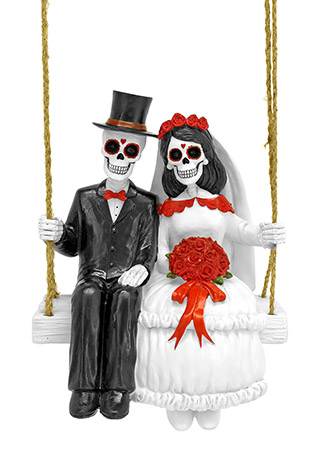 Amor Eterno Husband and Wife Swinging FIGURINEs