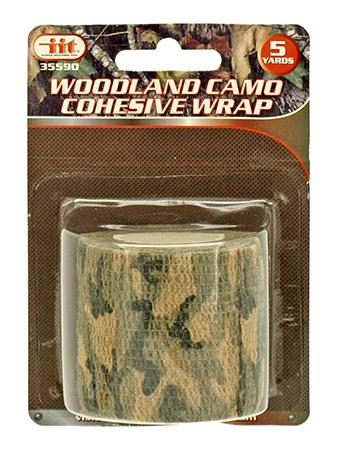 Woodland Camo Cohesive Wrap