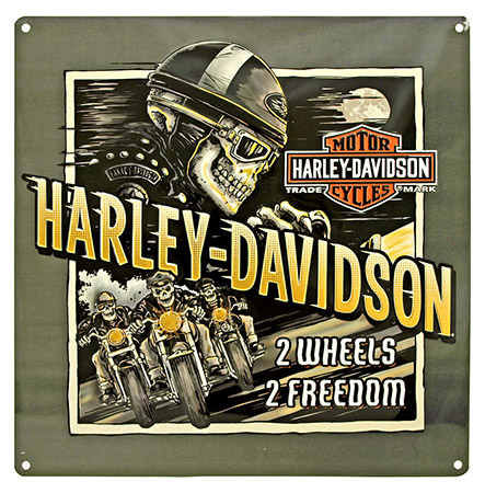 HARLEY DAVIDSON 2 Wheels 2 Freedom Tin Sign
