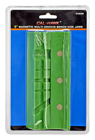 Cal-Hawk Magnetic Multi Groove Bench Vice Jaws