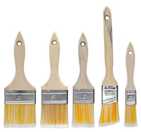5-pc. Wood Handle Paint Brush