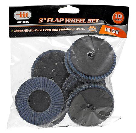 "3"" Flap Wheel Set - 60 Grit"