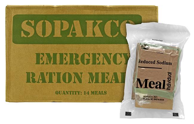 Box of 14 Sopakco Meals Ready to Eat (MREs)
