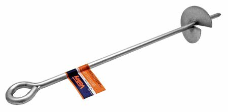 """18"""" Auger Stake - Silver"""