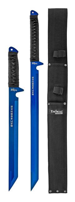 2 - pc. Ninja Warrior Samurai Style Dual Sword Set with Sheath - Blue