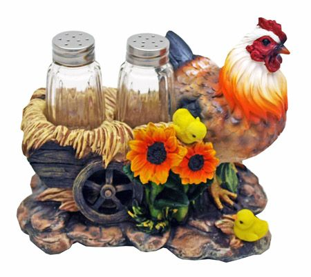 "7"" Poultry Seasoning Hen Salt & Pepper Shakers"