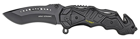 ''4.5'''' Spring Assist LICENSED US Army Folding Rescue Knife''