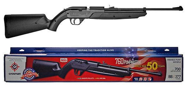 Crosman .177 Cal Pumpmaster 760 Rifle - Black - Remanufactured