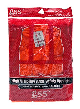High Visibility ANSI Safety VEST - Large