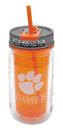 16-oz Clemson Mason Jar Water Bottle