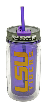 16-oz LSU Mason Jar Water Bottle