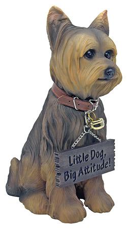 Faithful Yorkie Dog Statue