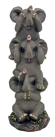See No Evil Pachyderms Elephant FIGURINE