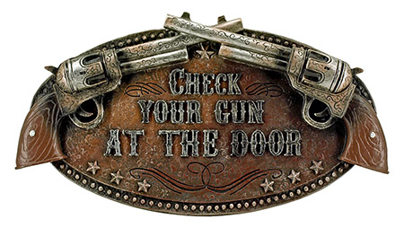 Check Your Gun at The DOOR Wall Mount