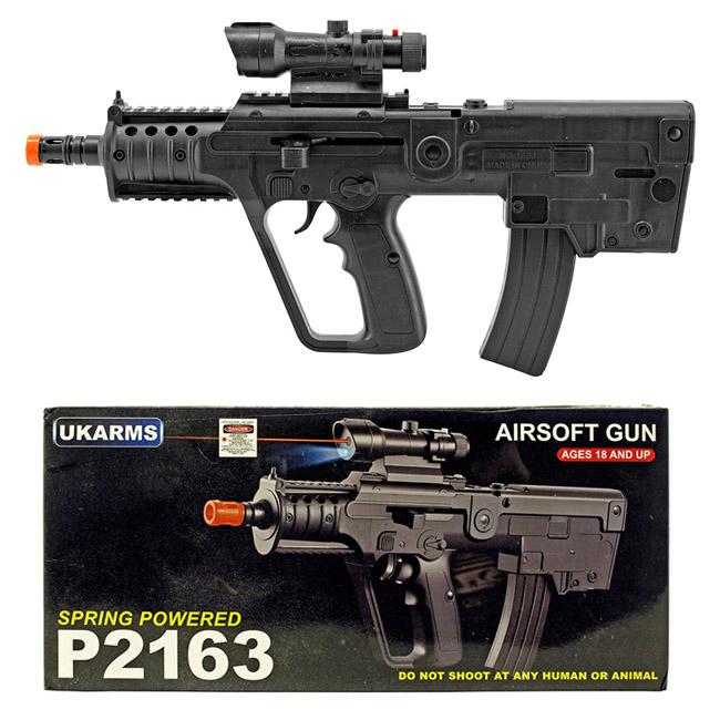 P2163 Spring Powered Airsoft Gun - Black