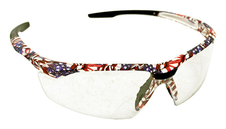 American Flag Safety GLASSES - Clear