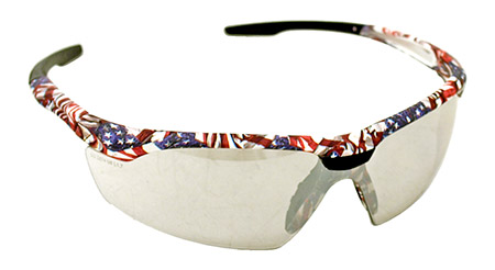 American Flag Safety GLASSES - Mirrored