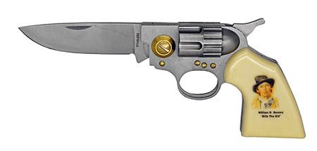 "4.5"" Revolver Folding Pocket Knife - Billy the Kid"