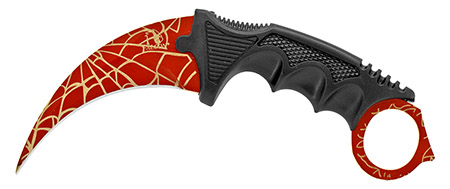 """7.5"""" Claw Knife - Red Web"""