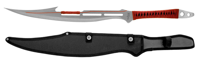 """27.25"""" Full Tang Machete - Silver and Red"""