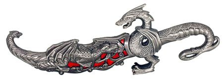 ''10'''' DRAGON Knife - Red''