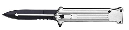 """4.75"""" Spring Assist Folding Pocket Knife - Silver"""