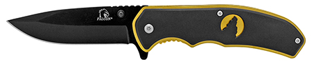 "4.5"" Silhouette Spring Assisted Folding Pocket Knife - Golden"