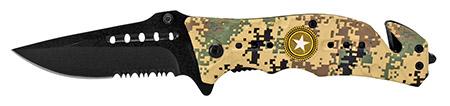 "4.5"" Folding Survival Knife - Digital Camo"