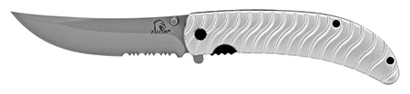 ''4.5'''' Spring Assisted Tactical Rescue KNIFE - Silver''