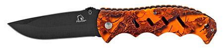 ''4.75'''' Woodsman Finger Grip Pocket KNIFE - Orange Camo''