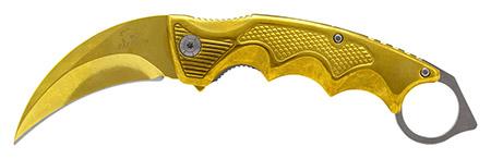 "5.5"" Karambit Folding Pocket Knife - Golden"
