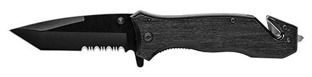 """4.75"""" Spring Assist Folding Pocket Knife - Black"""
