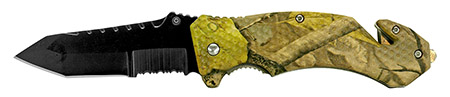 "4.75"" Spring Assisted Folding Pocket Knife - Woodland Camo"