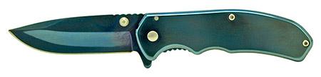"3.75"" Spring Assisted Stainless Steel Folding Pocket Knife - Blue"