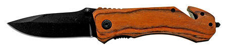 ''4.75'''' Woodsman Spring Assisted Folding KNIFE - Cherry Wood''