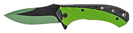 "4.75"" Color Rush Spring Assisted Folding Pocket Knife - Green"