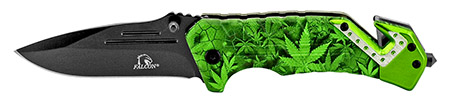 ''4.5'''' Spring Assisted Tactical KNIFE - Green Colorado Camo''