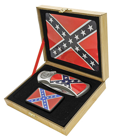 ''4'''' Manual Assist Lockback Folding Confederate Knife with LIGHTER''