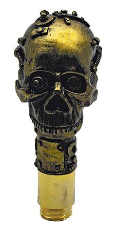 Steampunk Skull Walking Cane w/ Blade