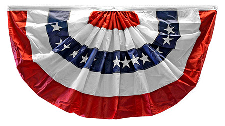 1.5' x 3' Pleated USA Poly Cotton FAN