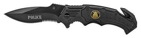 ''4.5'''' Spring Assist Police Folding KNIFE - Black''