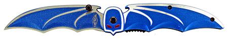 ''4.5'''' Spring Assisted Bat Wing Folding KNIFE - Blue''