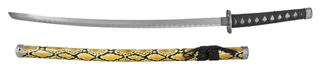 "37"" Traditional Dragon Samurai Sword - Snake"
