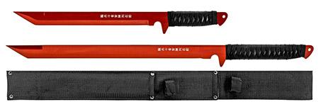 2 - pc. Samurai Style Sword Set - Red