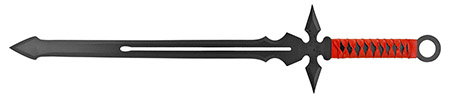 ''25.75'''' NINJA SWORD - Black and Red''