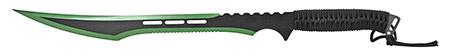 "27"" Stainless Steel Machete with Sheath - Green"