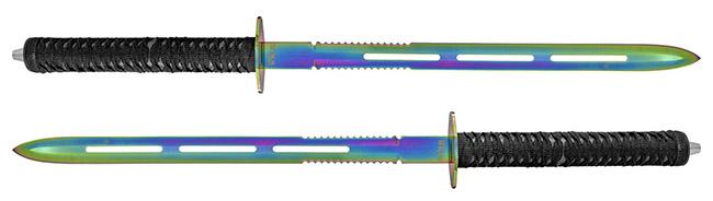 "25.5"" Dual Wield Tactical Master Swords - Titanium"